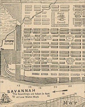 Savannah Historical Map